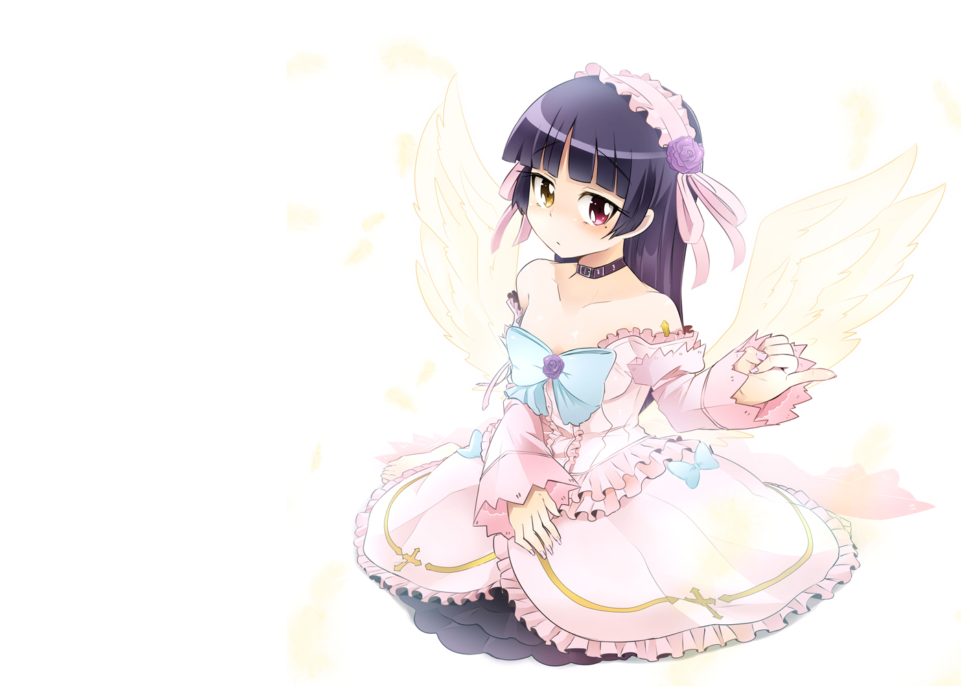 bicolored_eyes gokou_ruri ore_no_imouto_ga_konna_ni_kawaii_wake_ga_nai photoshop white wings zuzu