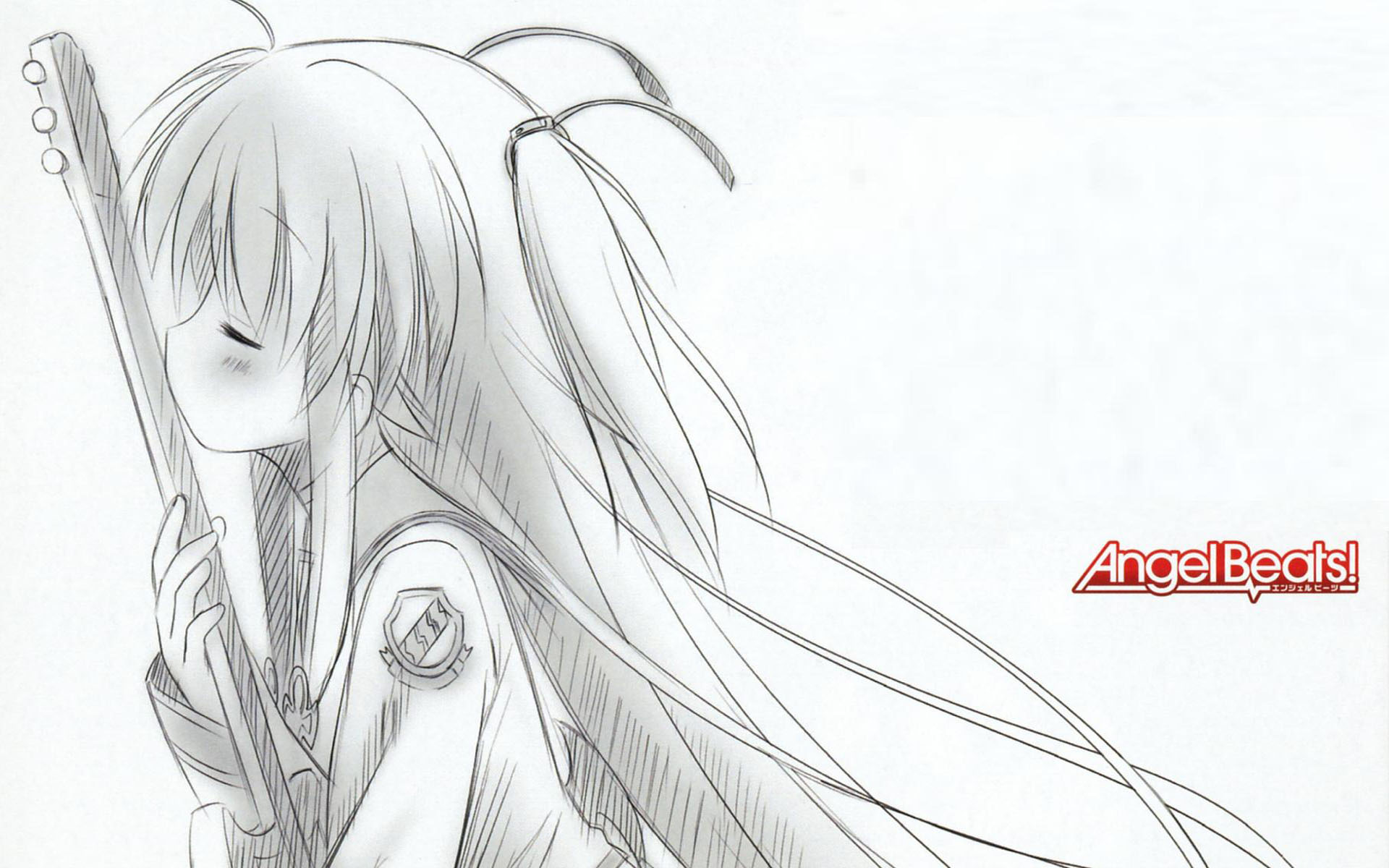 angel_beats! sketch yui_(angel_beats!)