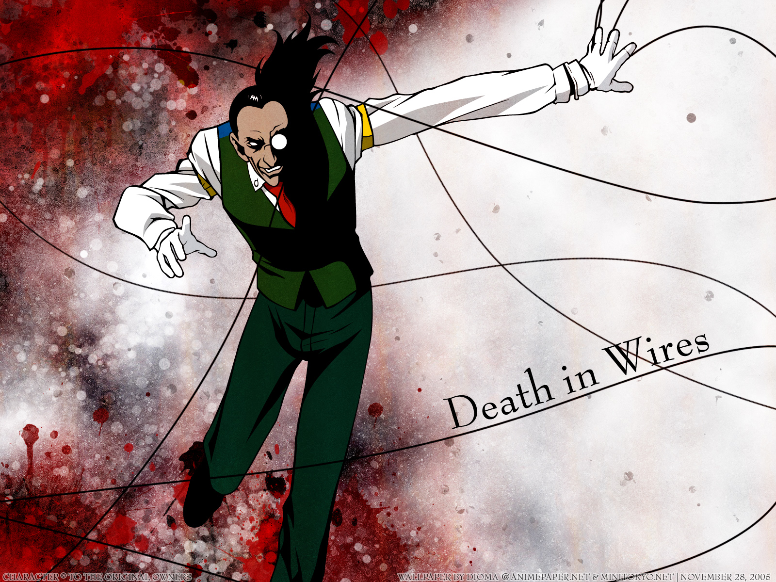 all_male black_hair gloves hellsing long_hair male ponytail tie walter_c_dornez