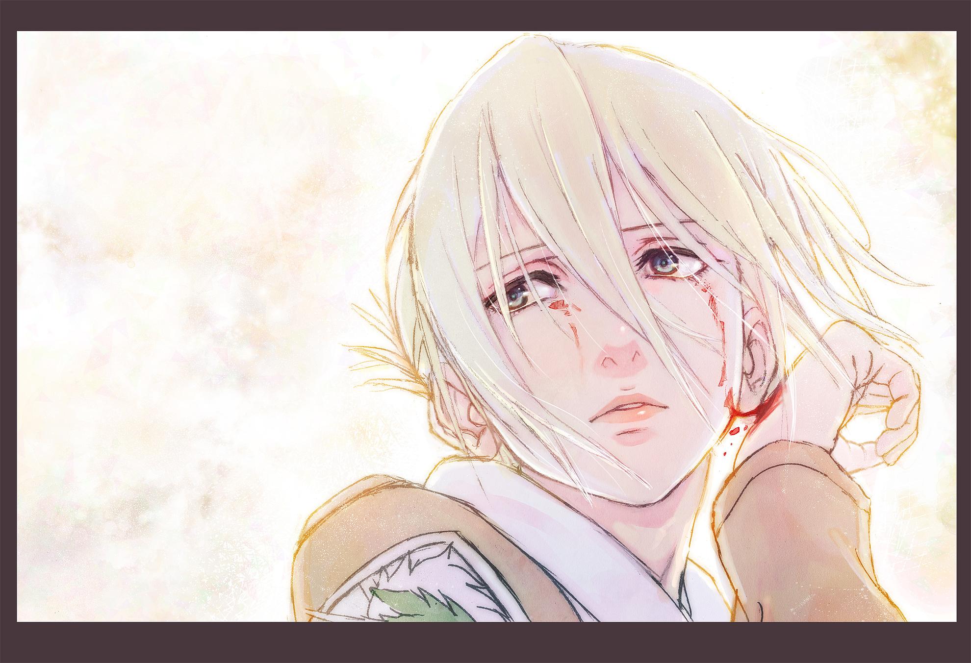 Annie Leonhardt Blonde Hair Blood Blue Eyes Close Piroaki Shingeki No Kyojin Short Hair Uniform White Konachan Com Konachan Com Anime Wallpapers