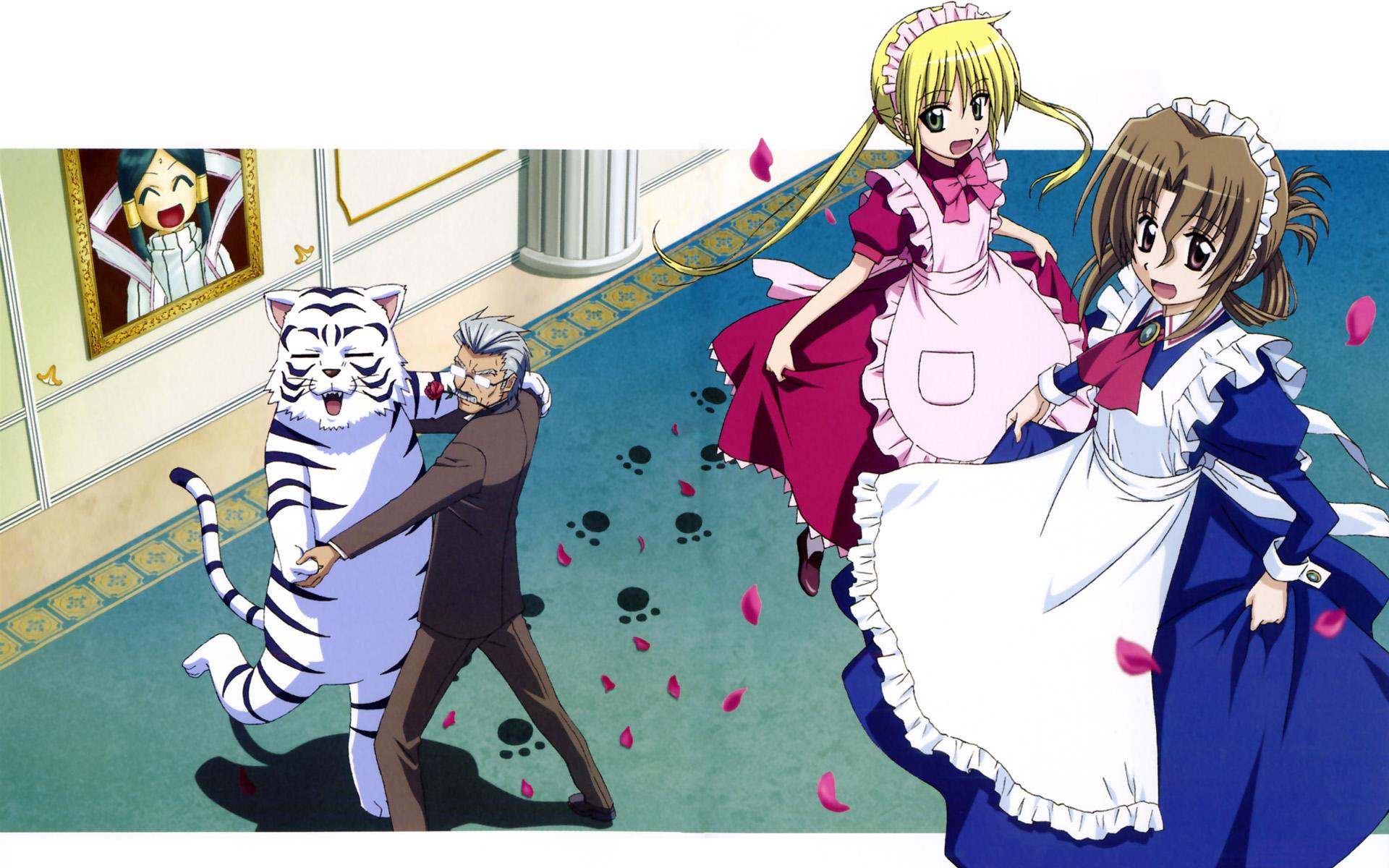 hayate_no_gotoku klaus maid maria_(hayate_no_gotoku) sanzenin_nagi tama
