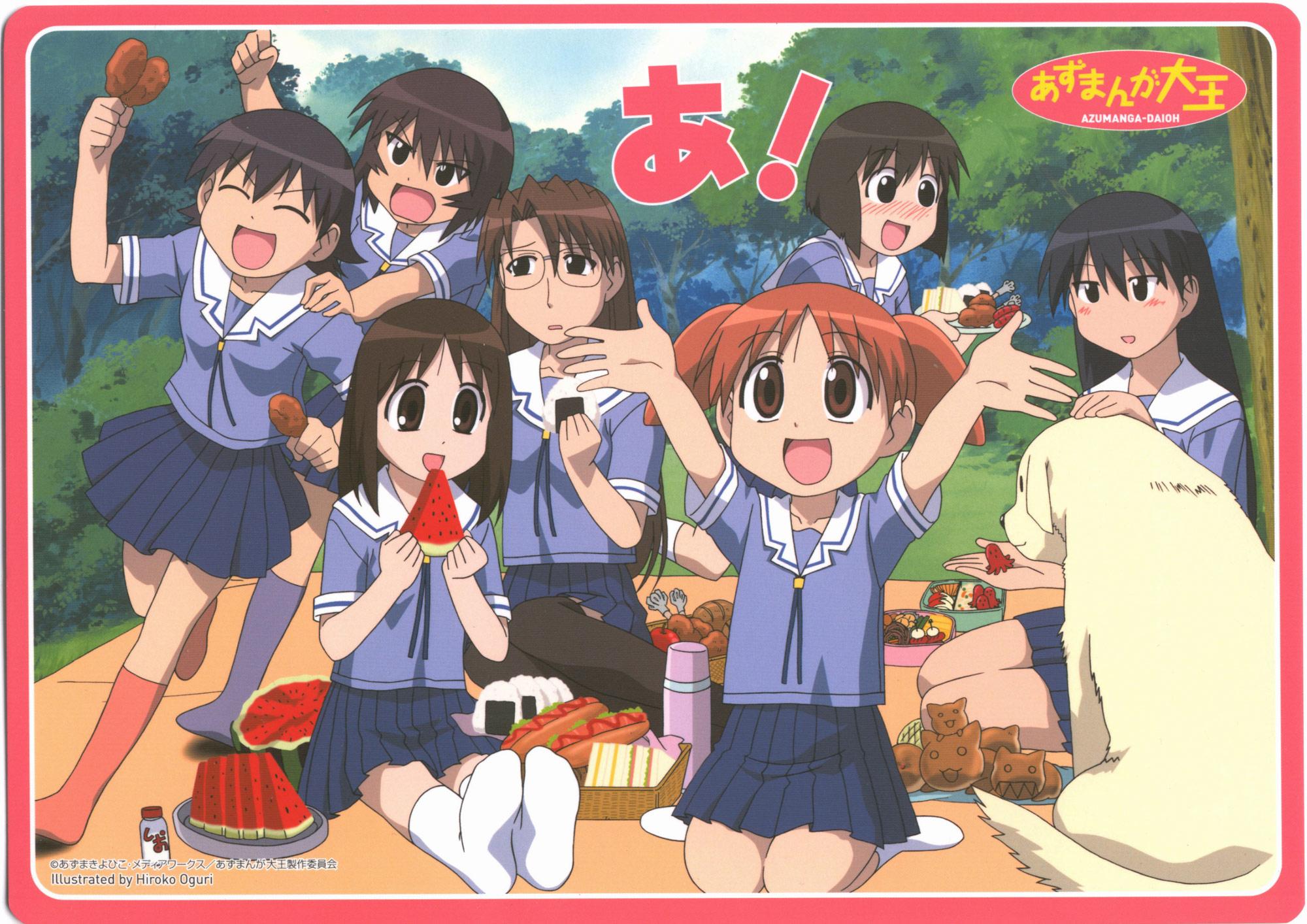 aida_kaori azumanga_daioh kagura kasuga_ayumu mihama_chiyo mizuhara_koyomi sakaki tadakichi takino_tomo