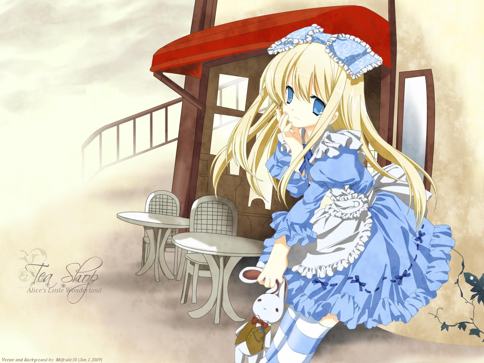 alice_(wonderland) alice_in_wonderland blonde_hair blue_eyes dress lolita_fashion miyashita_miki signed vector