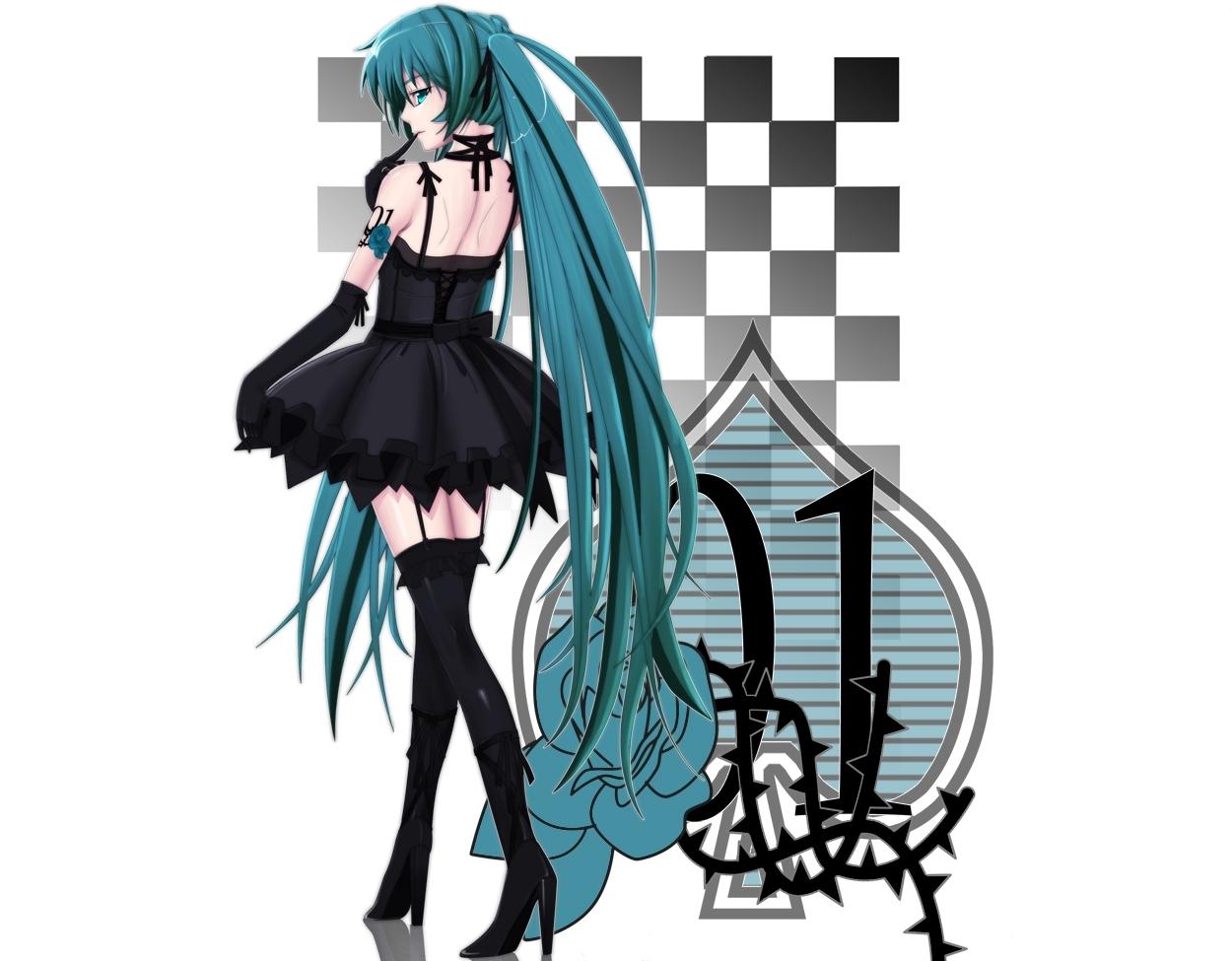 futaba_(artist) hatsune_miku thighhighs vocaloid