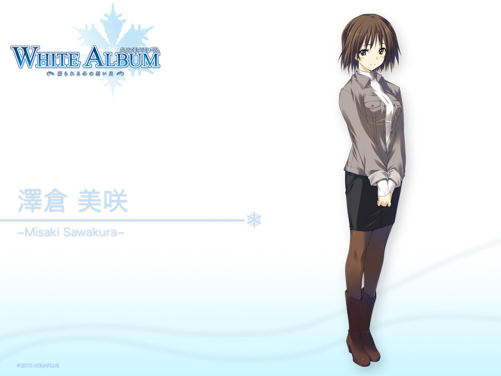 brown_eyes brown_hair pantyhose sawakura_misaki short_hair skirt white_album