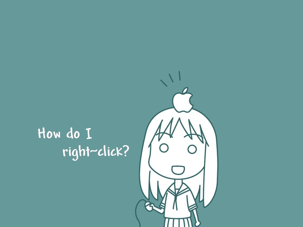 apple azumanga_daioh blue food fruit kasuga_ayumu mac parody