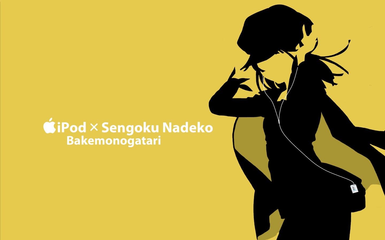 bakemonogatari ipod kisoba monogatari_(series) sengoku_nadeko silhouette