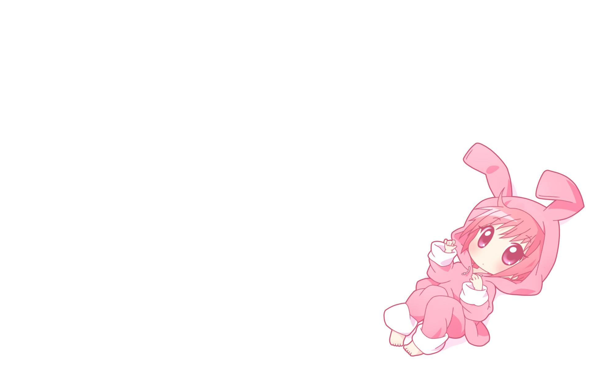 animal_ears blush chibi mirai_(sugar) pink_hair purple_eyes short_hair to_aru_majutsu_no_index tsukuyomi_komoe