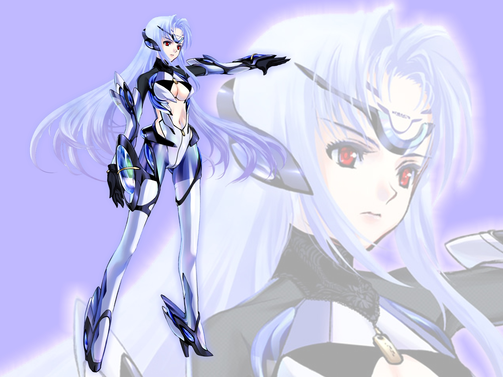 blue_hair kos-mos long_hair mechagirl red_eyes techgirl xenosaga zoom_layer
