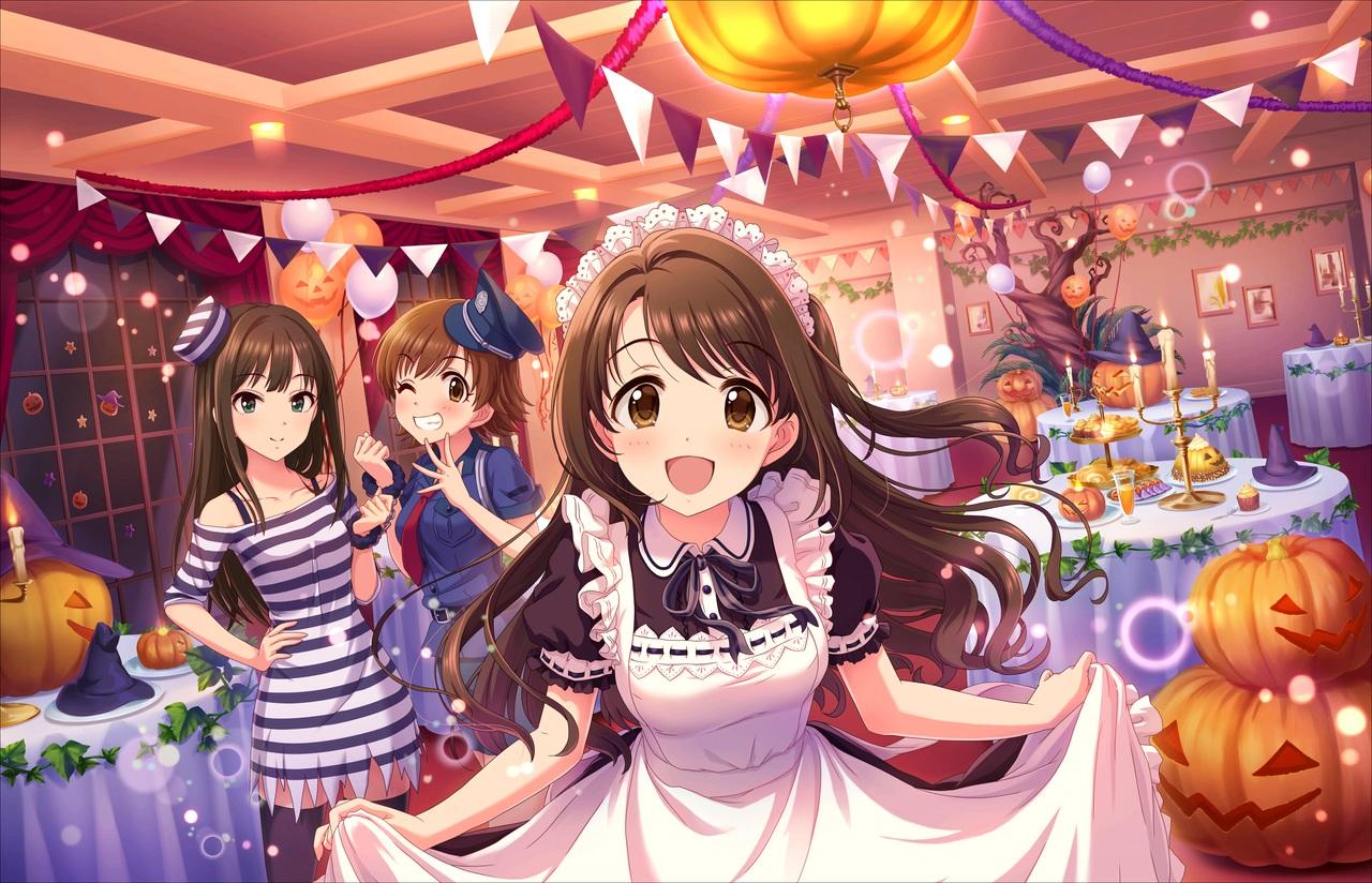 annin_doufu halloween honda_mio idolmaster idolmaster_cinderella_girls idolmaster_cinderella_girls_starlight_stage shibuya_rin shimamura_uzuki