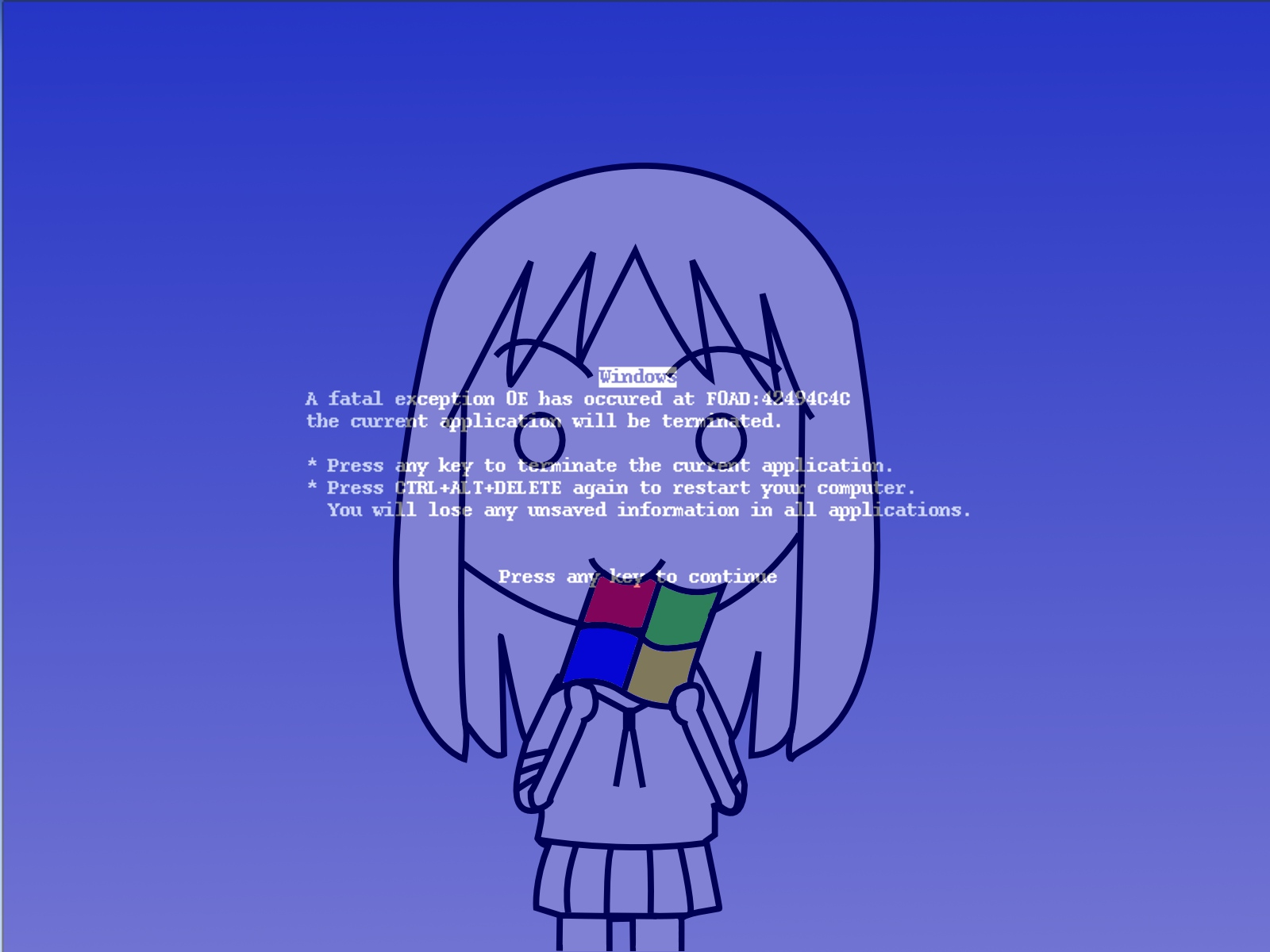 azumanga_daioh blue kasuga_ayumu parody windows