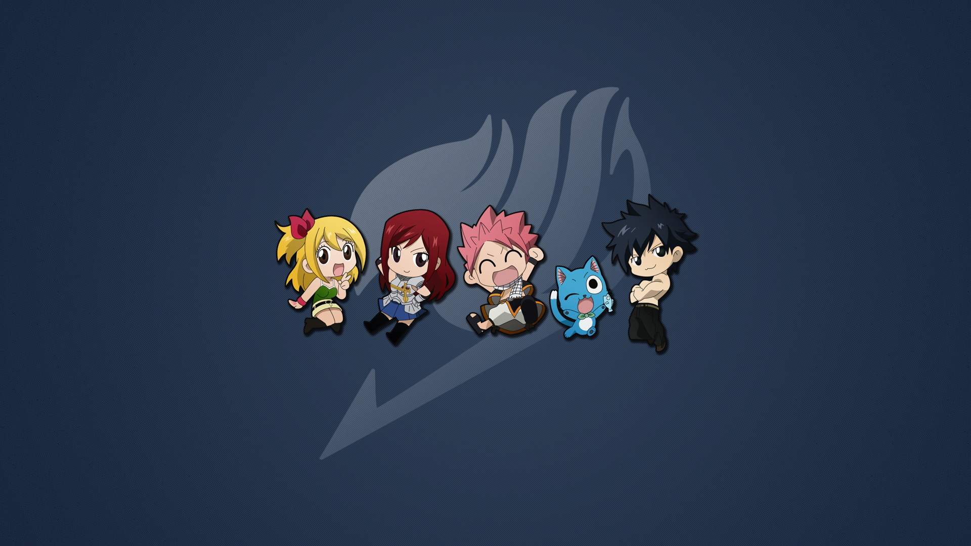 chibi erza scarlet fairy tail gray fullbuster happy fairy
