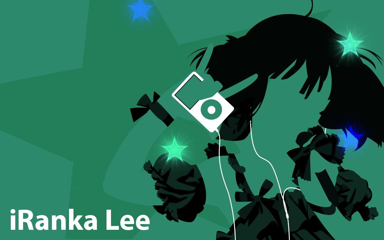 green ipod macross macross_frontier parody ranka_lee silhouette