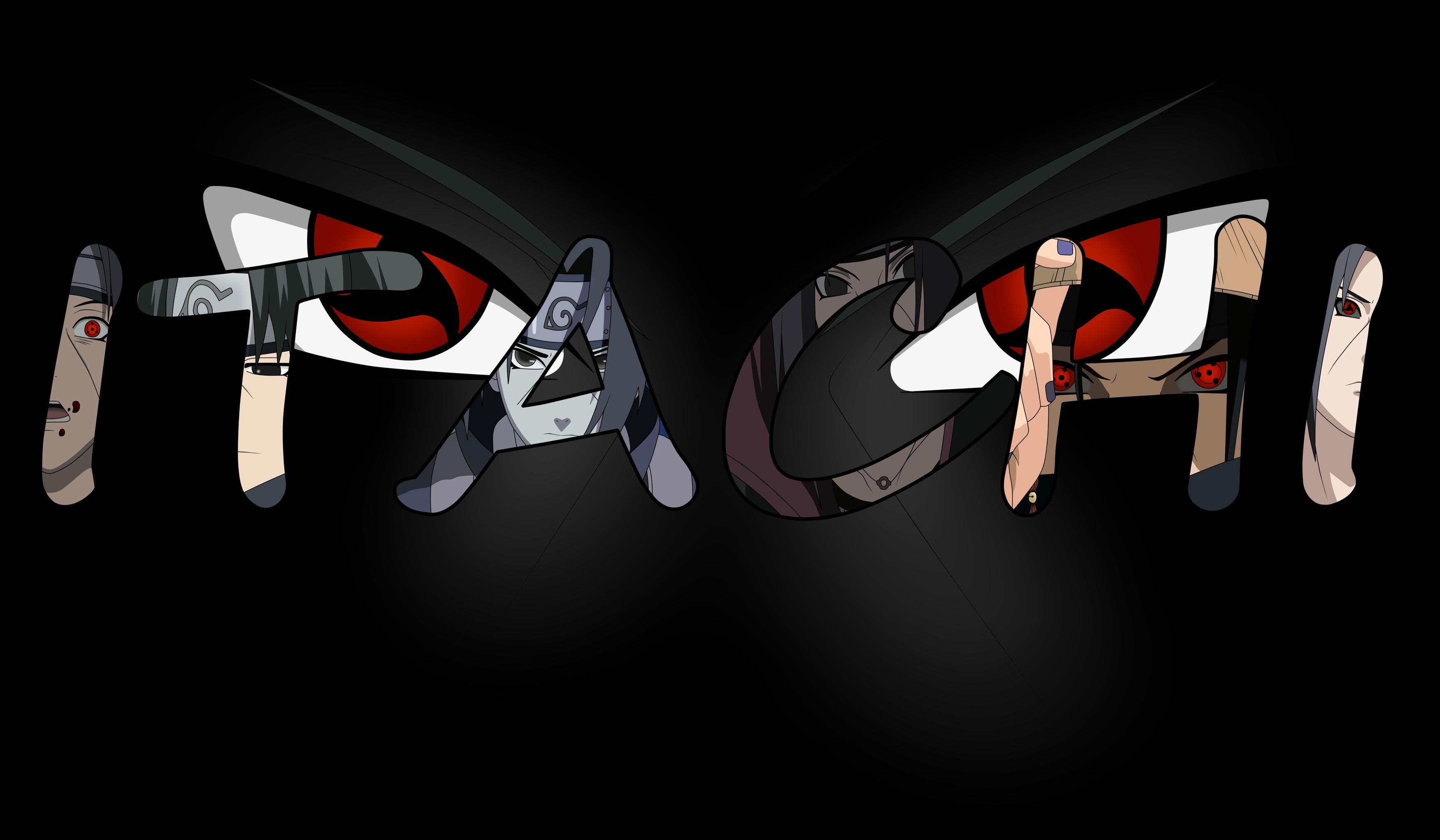 All Male Black Headband Male Naruto Ninja Red Eyes Uchiha