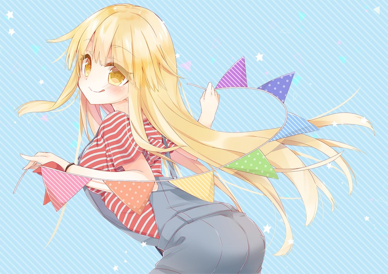 bang_dream! blonde_hair blush long_hair mao_(alepricos) okusawa_misaki yellow_eyes