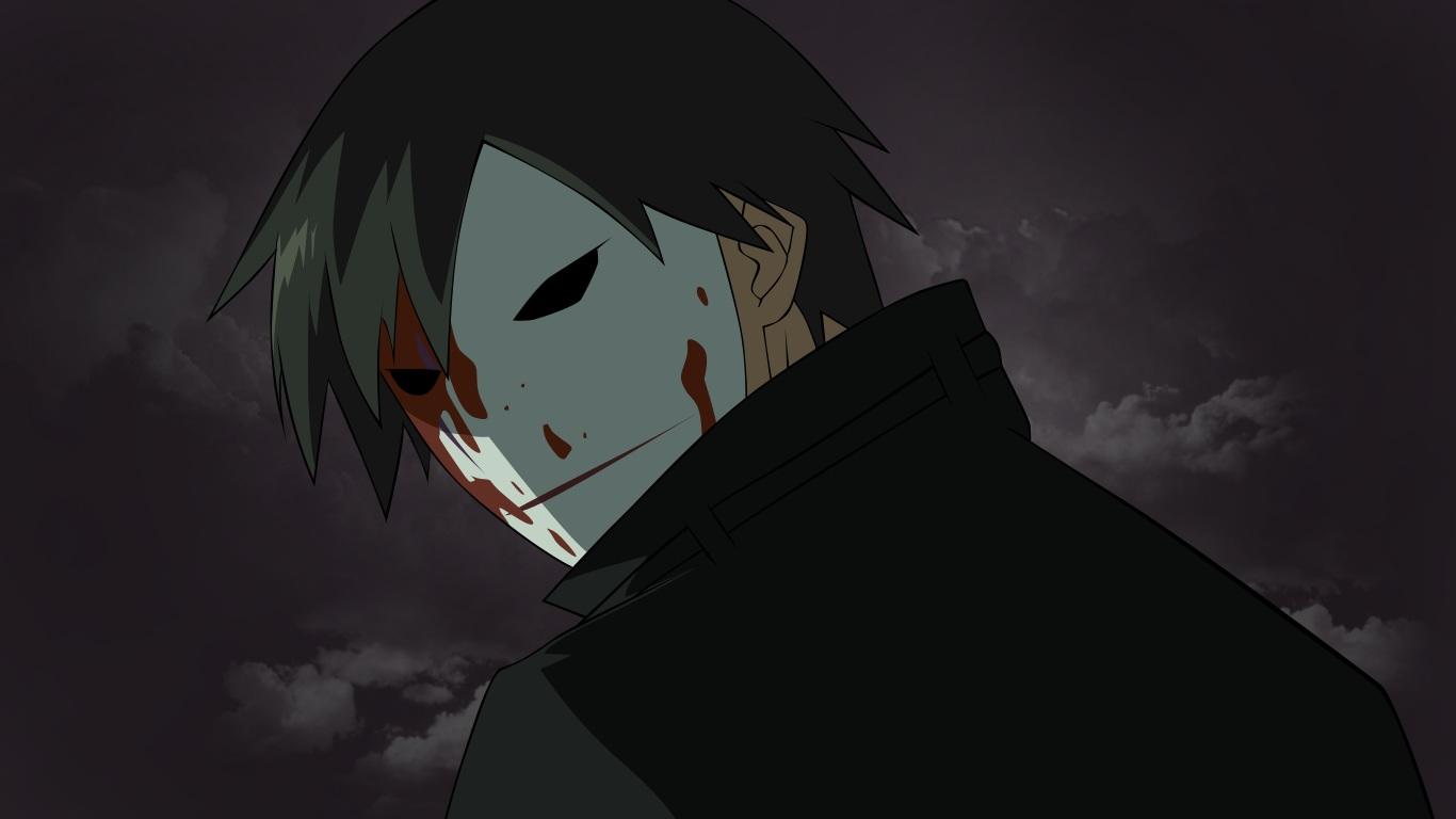 all_male black_hair blood close darker_than_black hei male mask vector