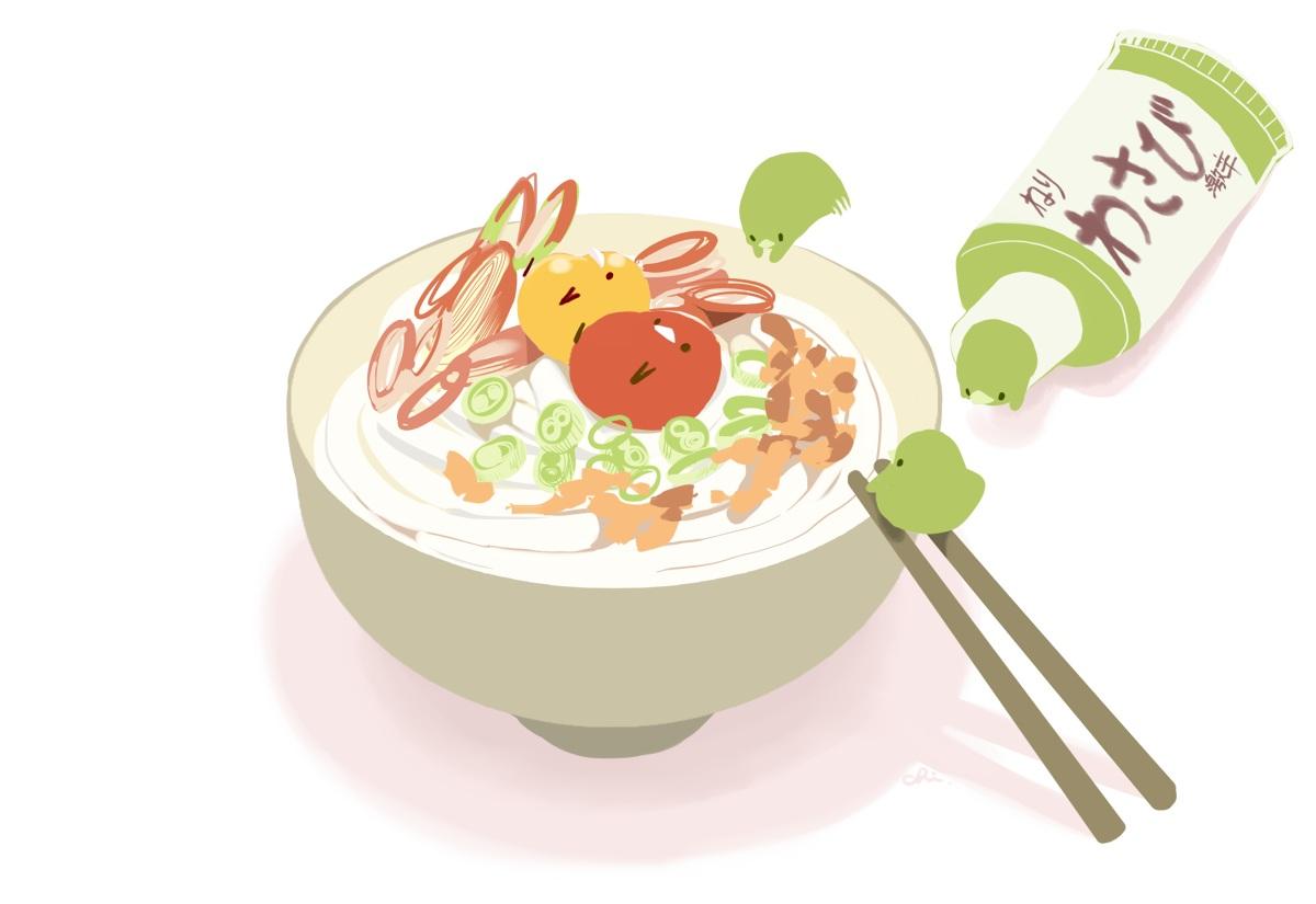 animal bird chai_(artist) food nobody original signed white