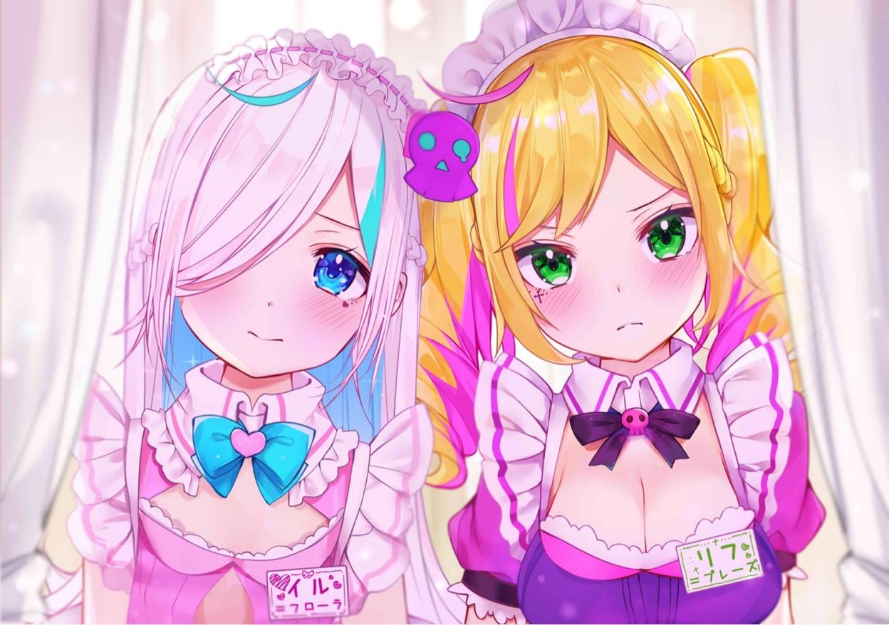 The Big ImageBoard (TBIB) - 2girls blonde hair blue eyes