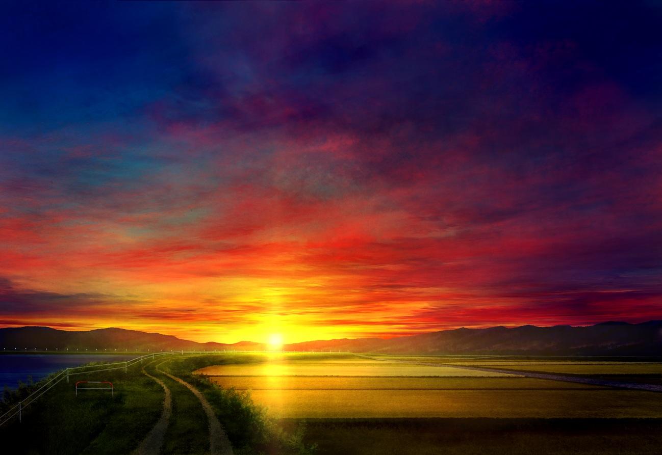 clouds grass landscape mks nobody original scenic sky sunset