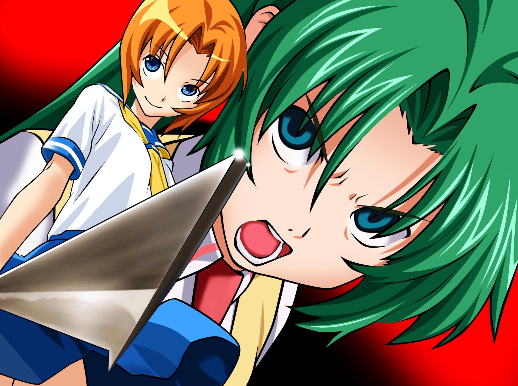Game Cg Higurashi No Naku Koro Ni Ryuuguu Rena Sonozaki Mion Konachan Com Konachan Com Anime Wallpapers
