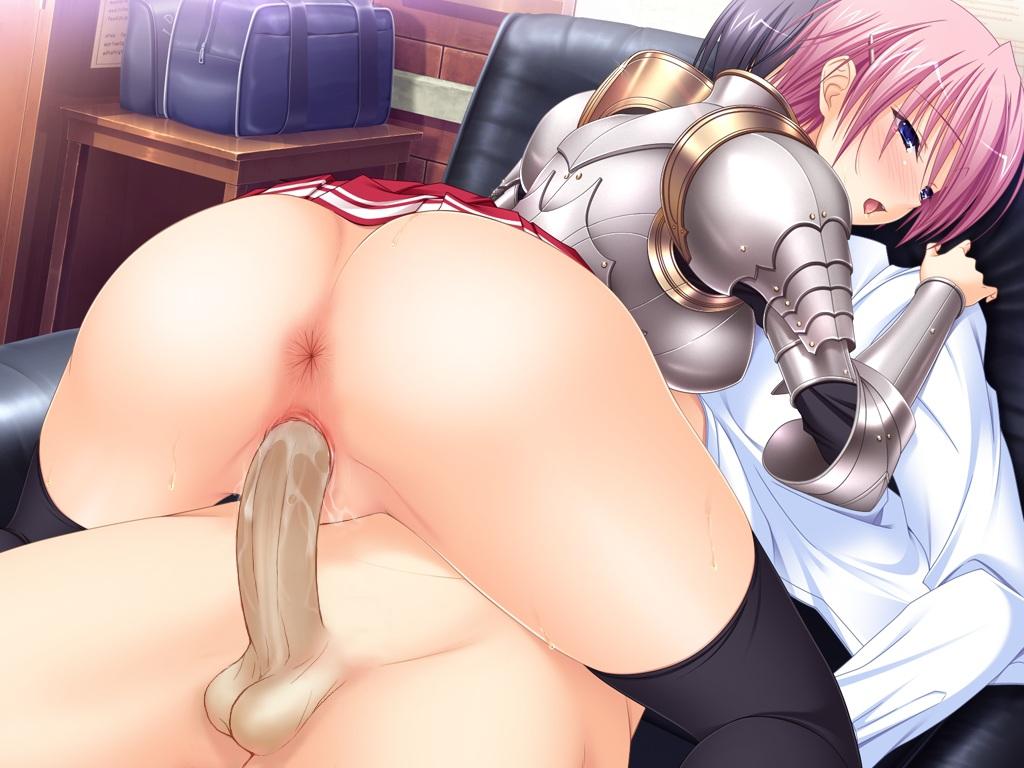 anus armor ass game_cg kisaki_mio komori_kei mizuno_takahiro nopan penis pink_hair pussy ricotta sex thighhighs uncensored walkure_romanze
