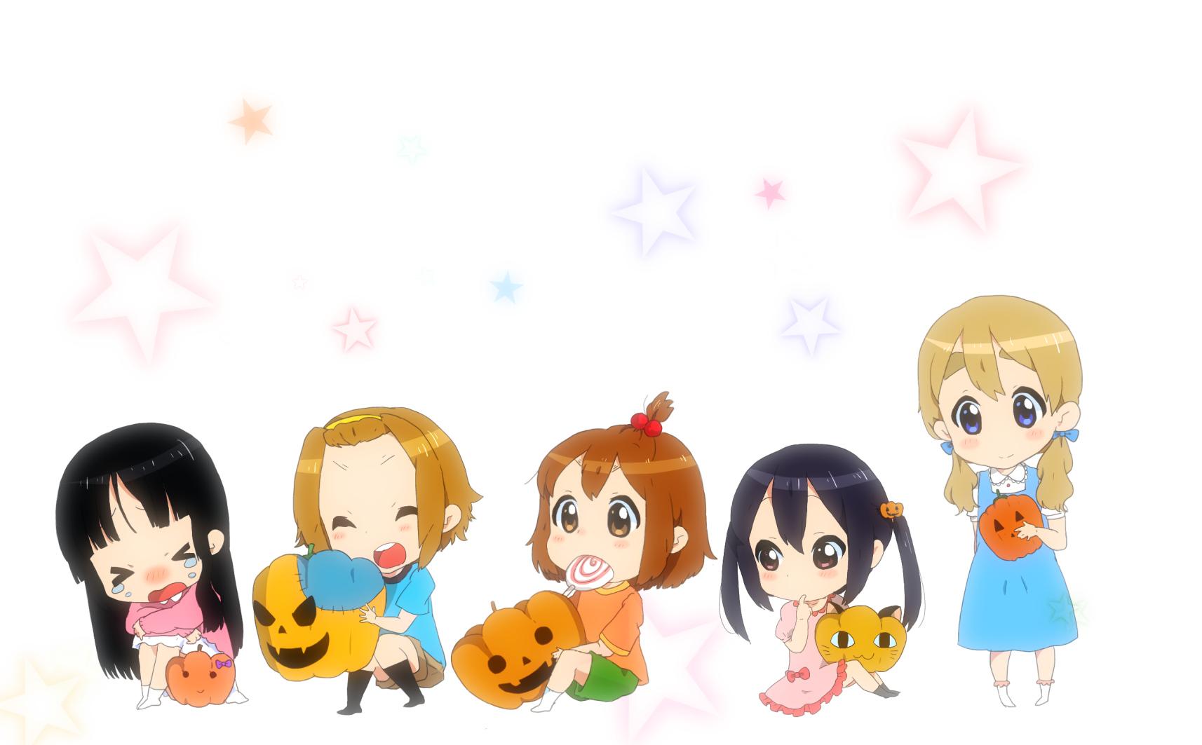 akiyama_mio chibi halloween hirasawa_yui k-on! kotobuki_tsumugi nakano_azusa tainaka_ritsu