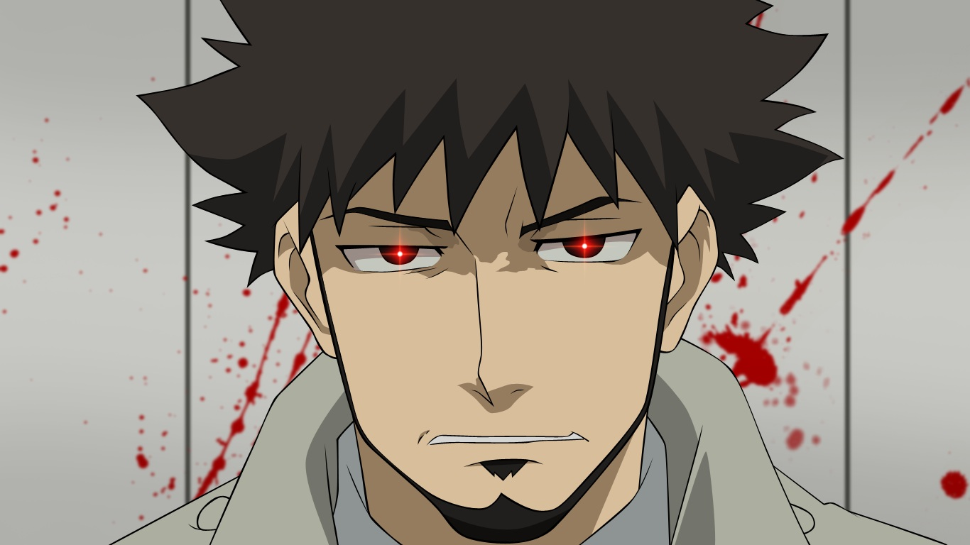all_male black_hair blood darker_than_black male shizume_genma short_hair vector