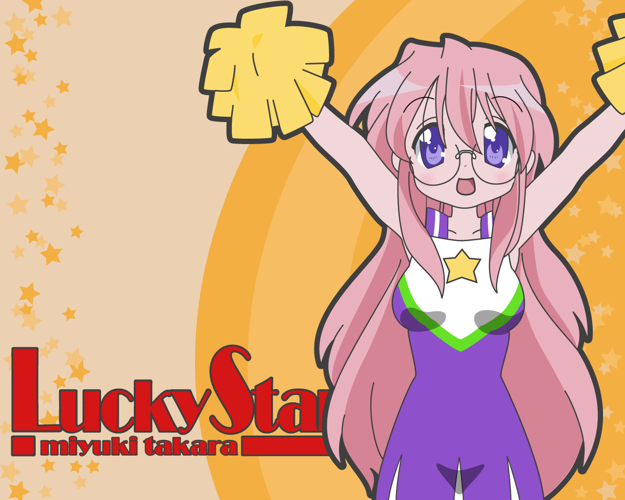 cheerleader glasses long_hair lucky_star pink_hair takara_miyuki
