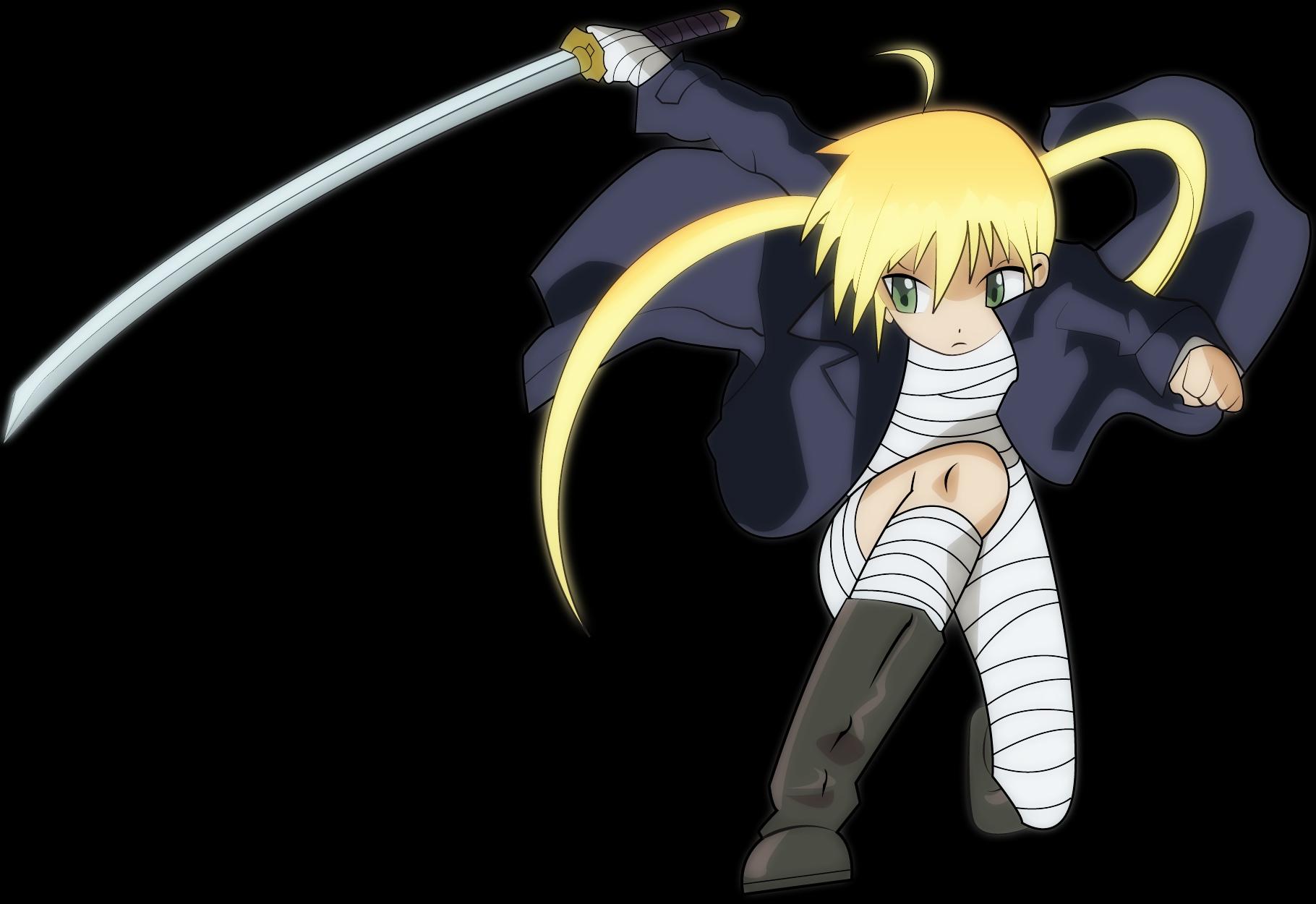 bandage hayate_no_gotoku katana loli sanzenin_nagi sword transparent weapon