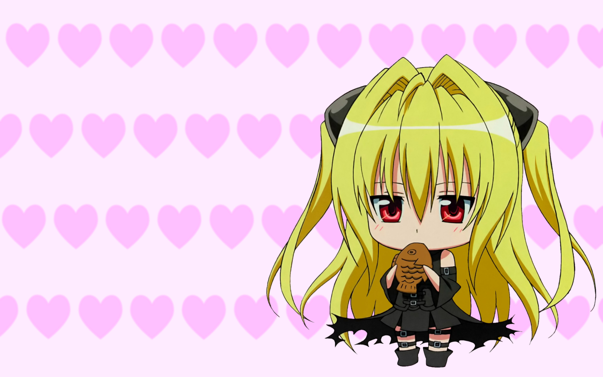 chibi food golden_darkness taiyaki to_love_ru