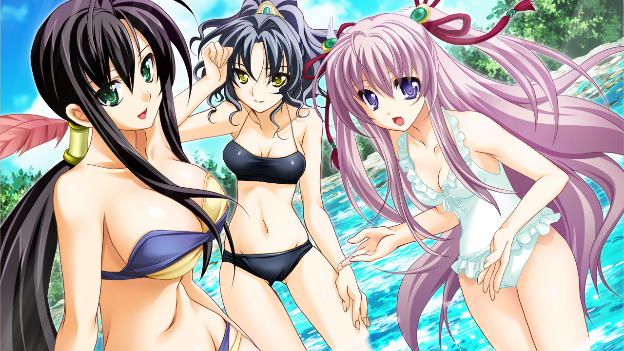 3girls game_cg sangoku_hime swimsuit tagme