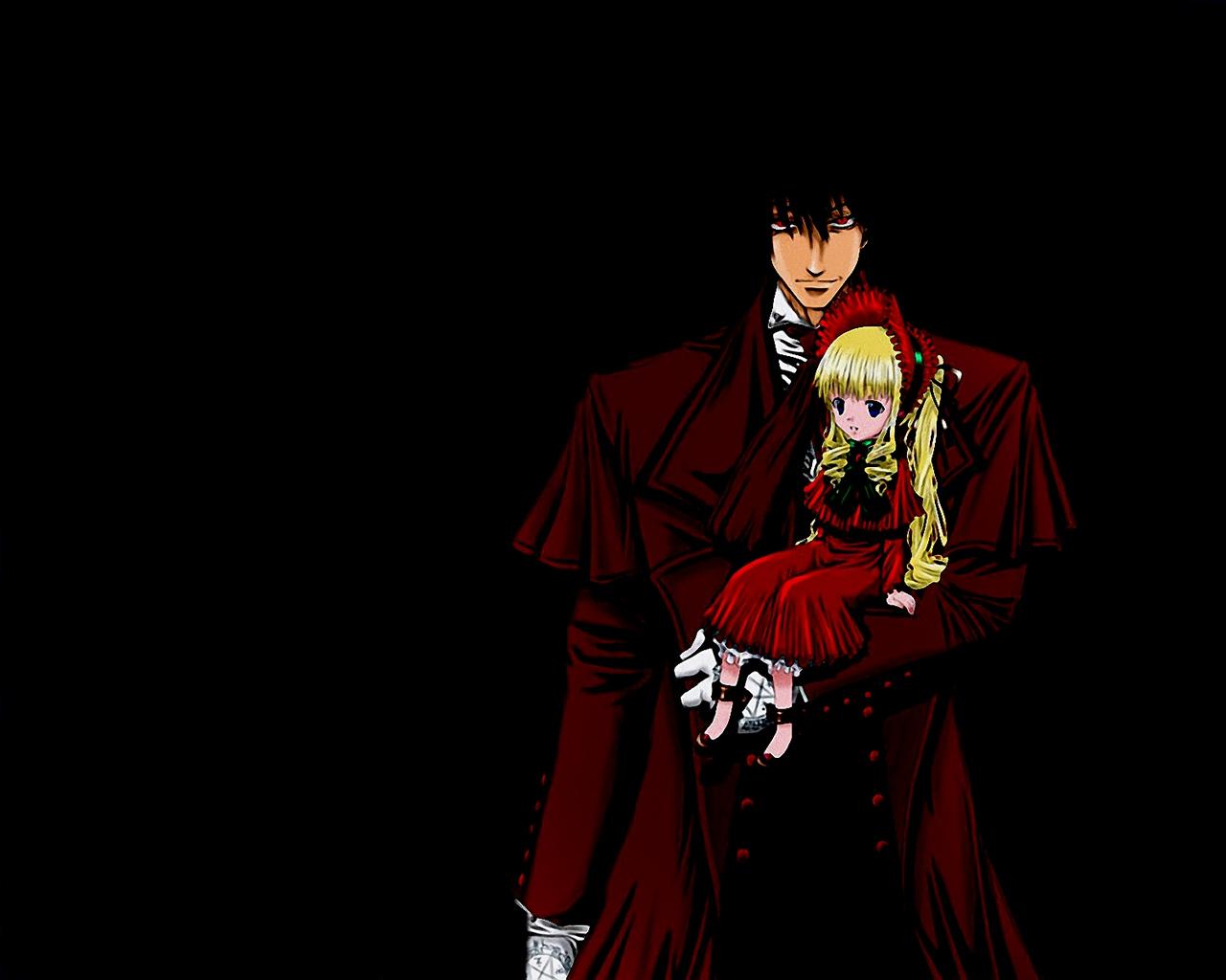 alucard black hellsing rozen_maiden shinku