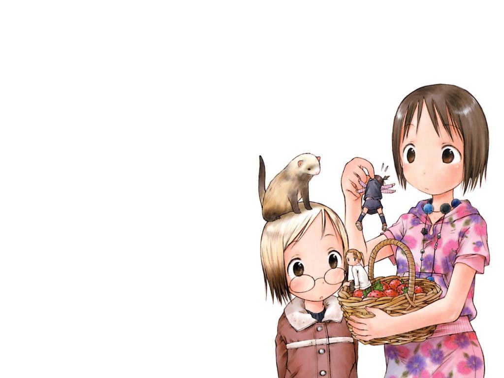 animal ferret food fruit ichigo_mashimaro itou_chika itou_nobue matsuoka_miu sakuragi_matsuri strawberry