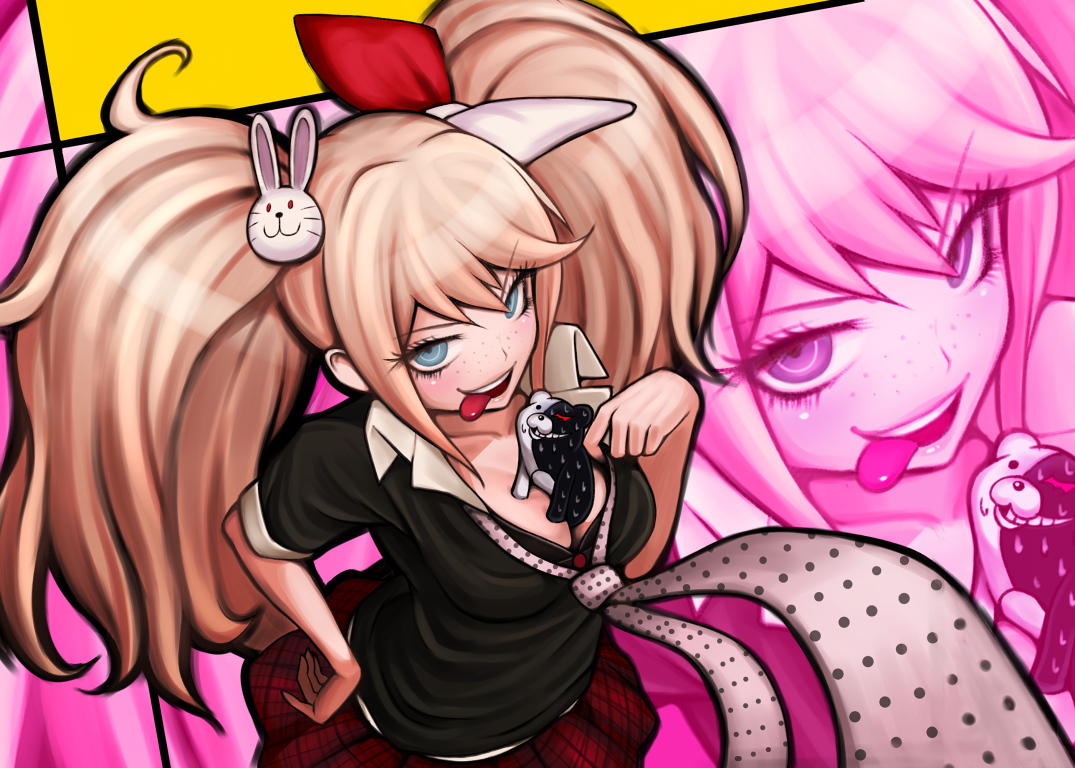 dangan-ronpa enoshima_junko twintails zoom_layer