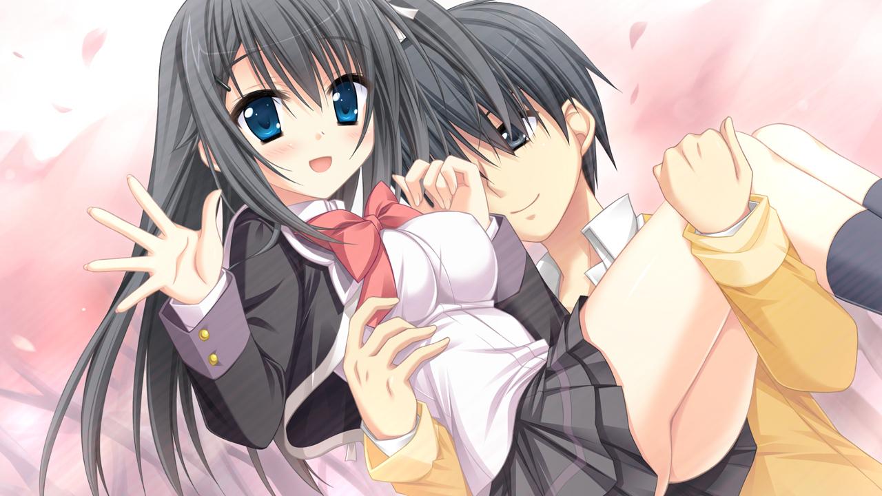 black_hair game_cg hatsuyuki_sakura hontani_kanae kawano_hatsuyuki long_hair saga_planets school_uniform shinonome_nozumu