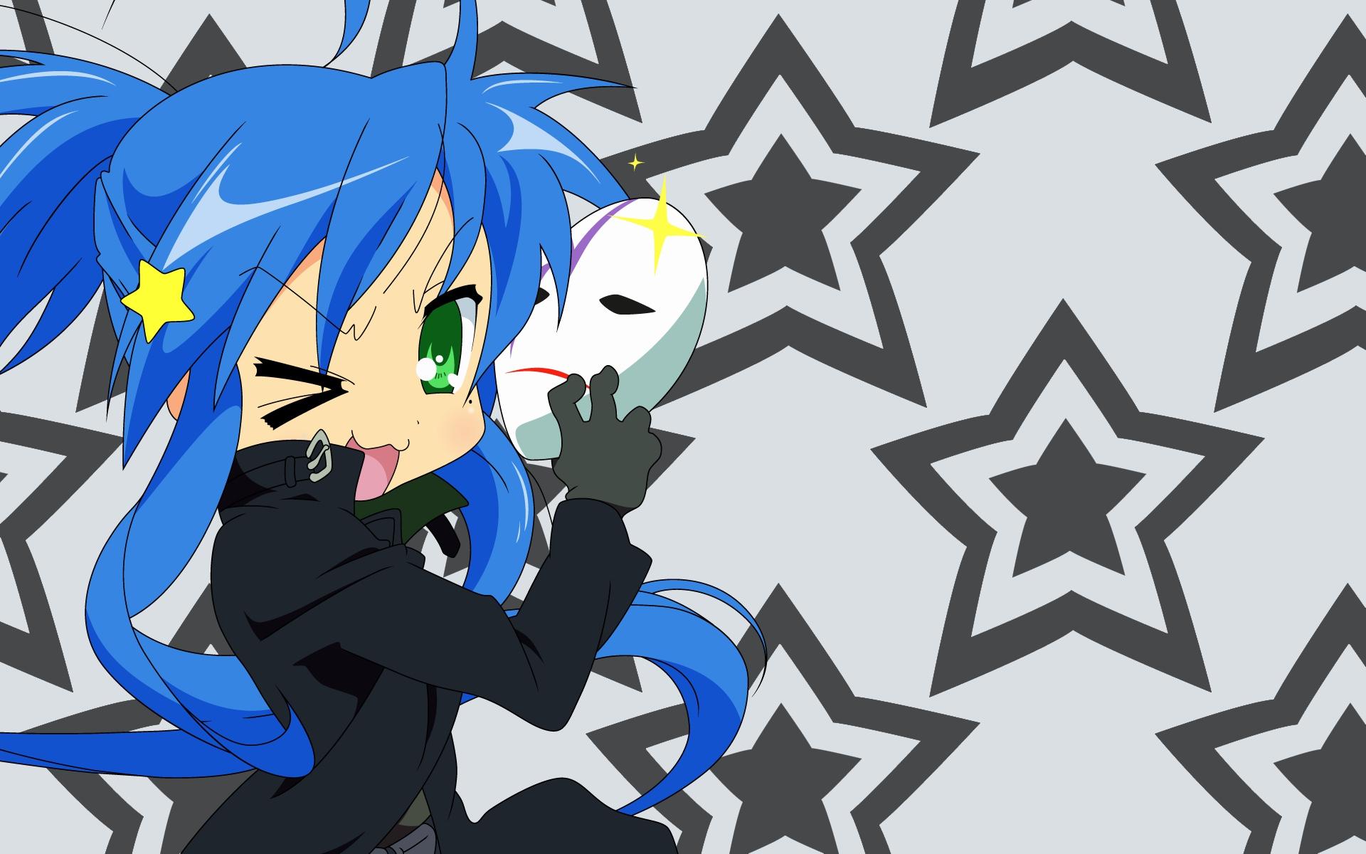 cosplay darker_than_black izumi_konata lucky_star mask parody stars vector