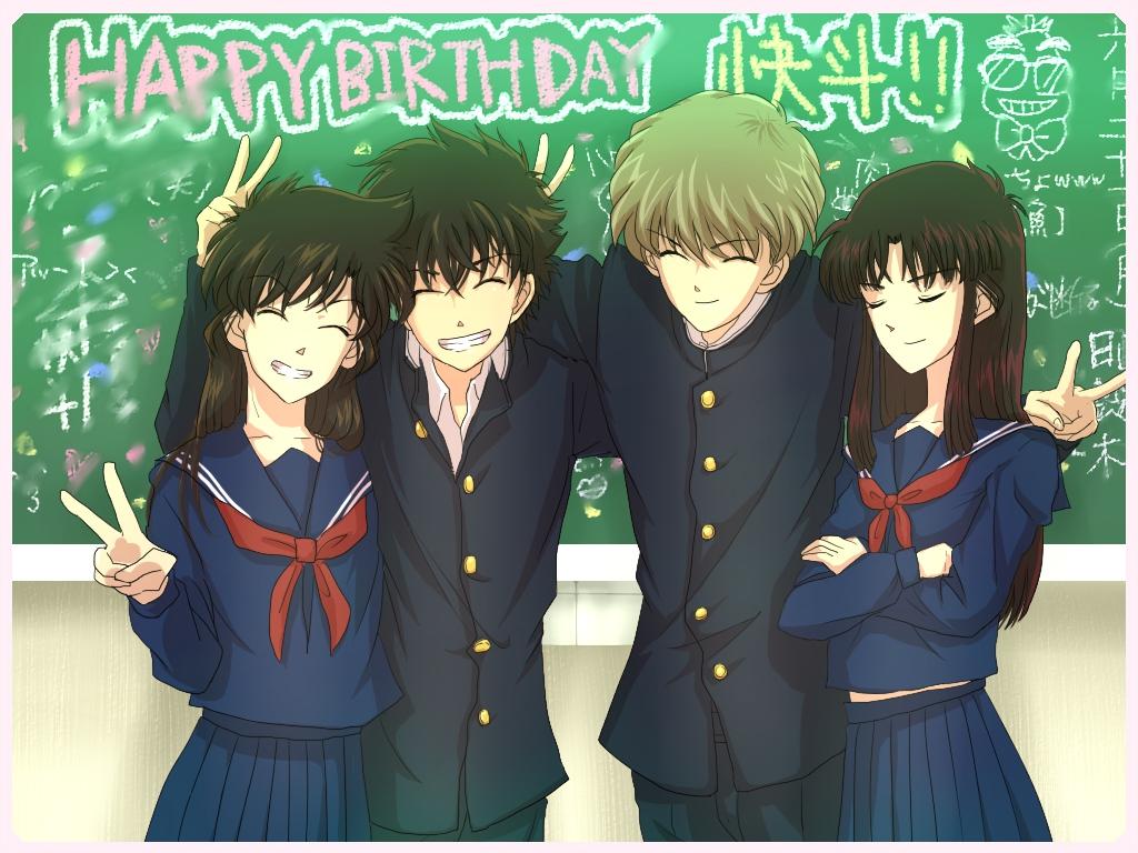 detective_conan hakuba_saguru koizumi_akako kuroba_kaitou magic_kaito nakamori_aoko school_uniform
