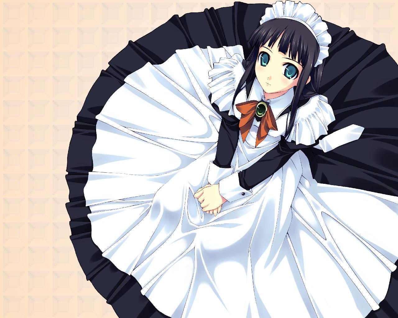black_hair dress maid murakami_suigun tagme