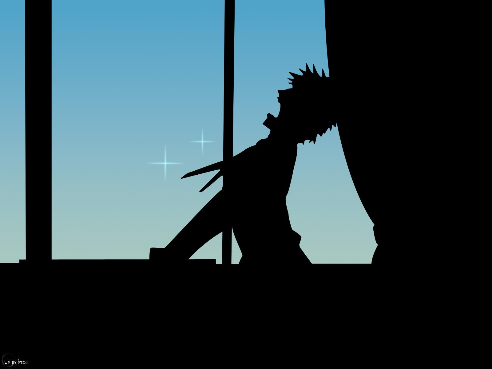 azumanga_daioh black blue kimura silhouette