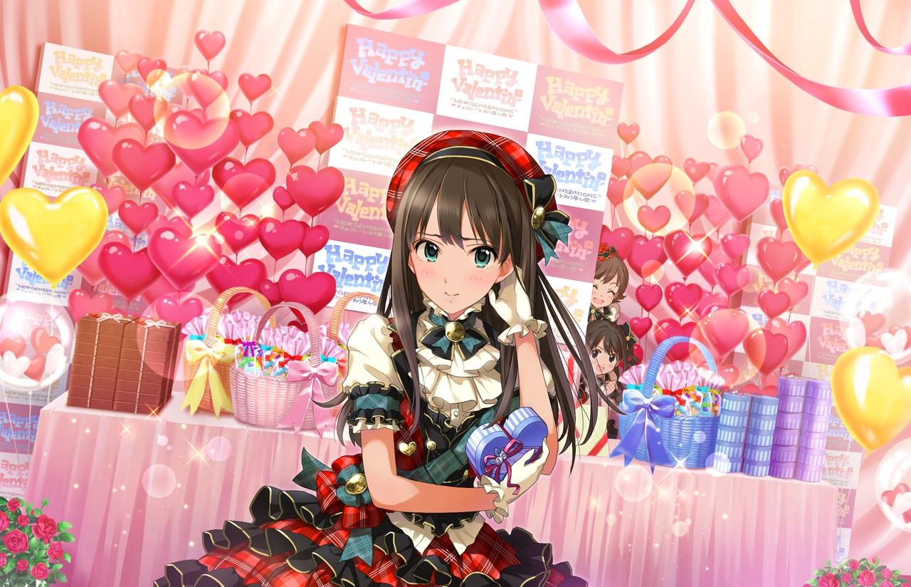 annin_doufu honda_mio idolmaster idolmaster_cinderella_girls idolmaster_cinderella_girls_starlight_stage shibuya_rin shimamura_uzuki valentine