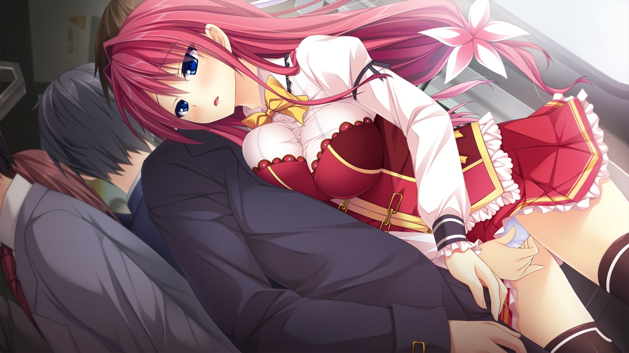 Hentai Cgs with regard to blue eyes blush bow breasts ensemble (company) fingering game cg