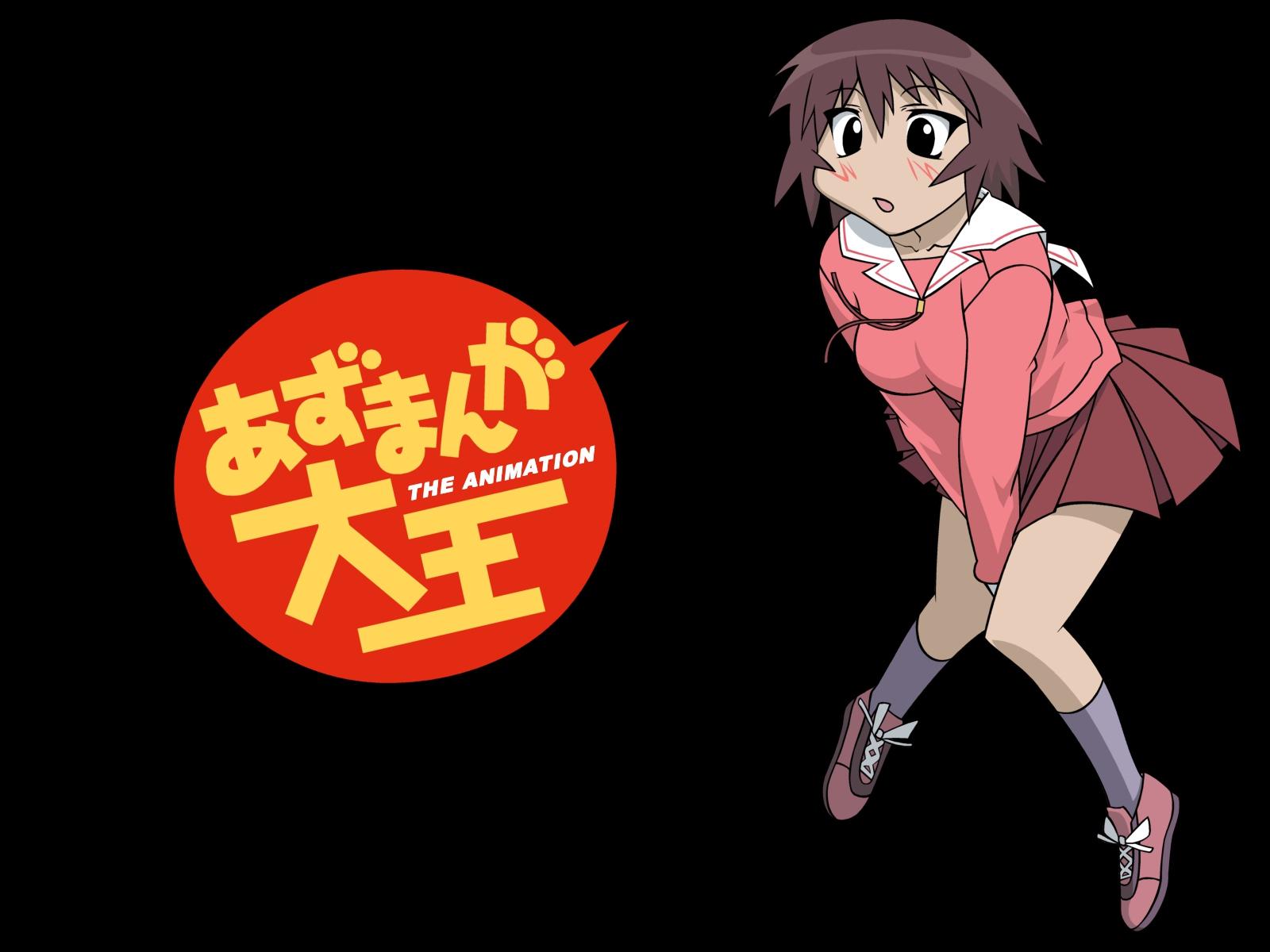 azumanga_daioh black kagura school_uniform vector