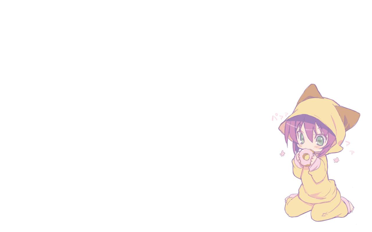 animal_ears blade_(lovewn) food green_eyes merry_nightmare purple_hair yumekui_merry