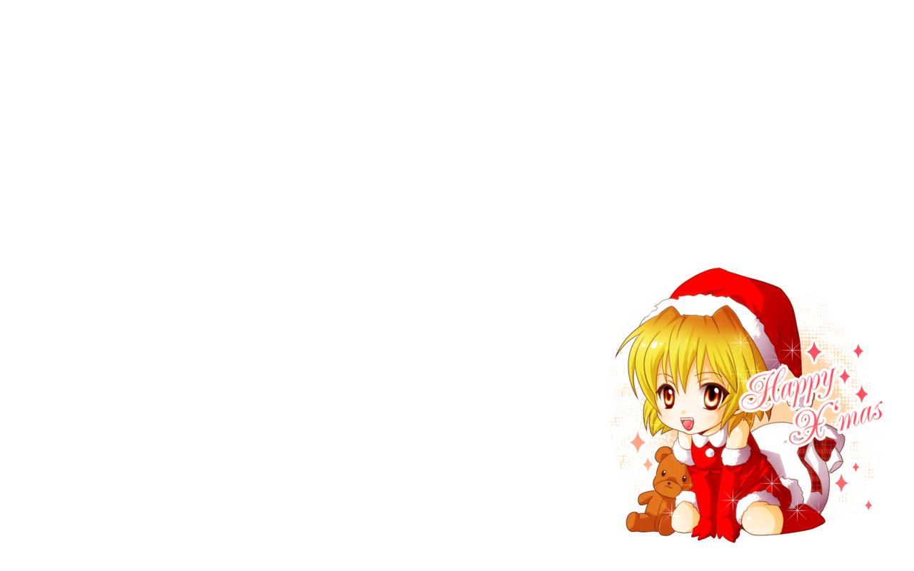 chibi christmas higurashi_no_naku_koro_ni houjou_satoko miku_(artist) white
