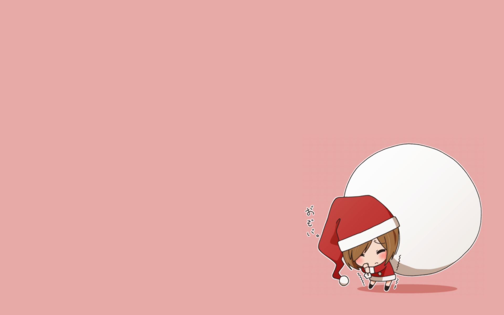 chibi christmas k-on! kinoshita_shizuka water_waterfall