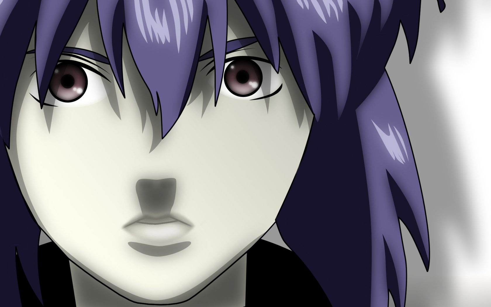 close ghost_in_the_shell kusanagi_motoko vector