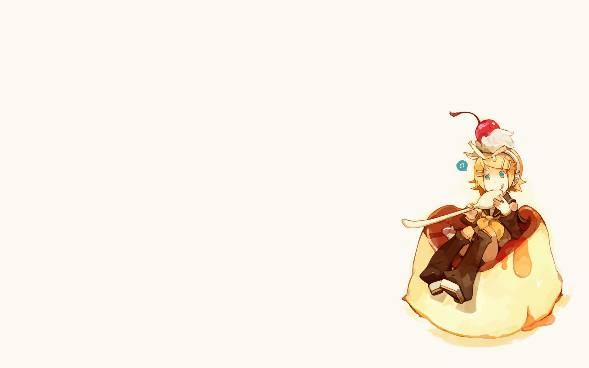 food guraida headphones kagamine_rin vocaloid white