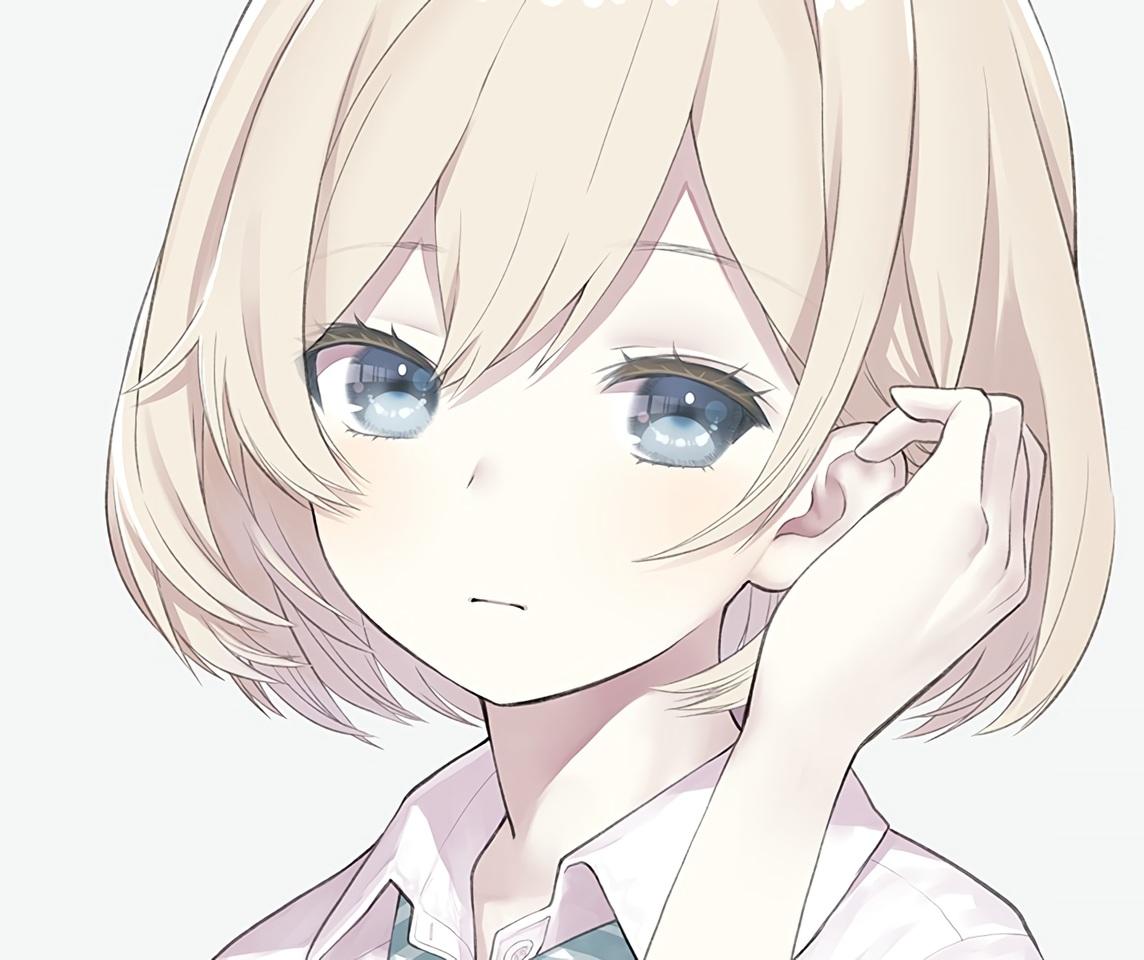 araburu_kisetsu_no_otome-domo_yo. blonde_hair blue_eyes capriccio close cropped school_uniform short_hair sugawara_niina waifu2x