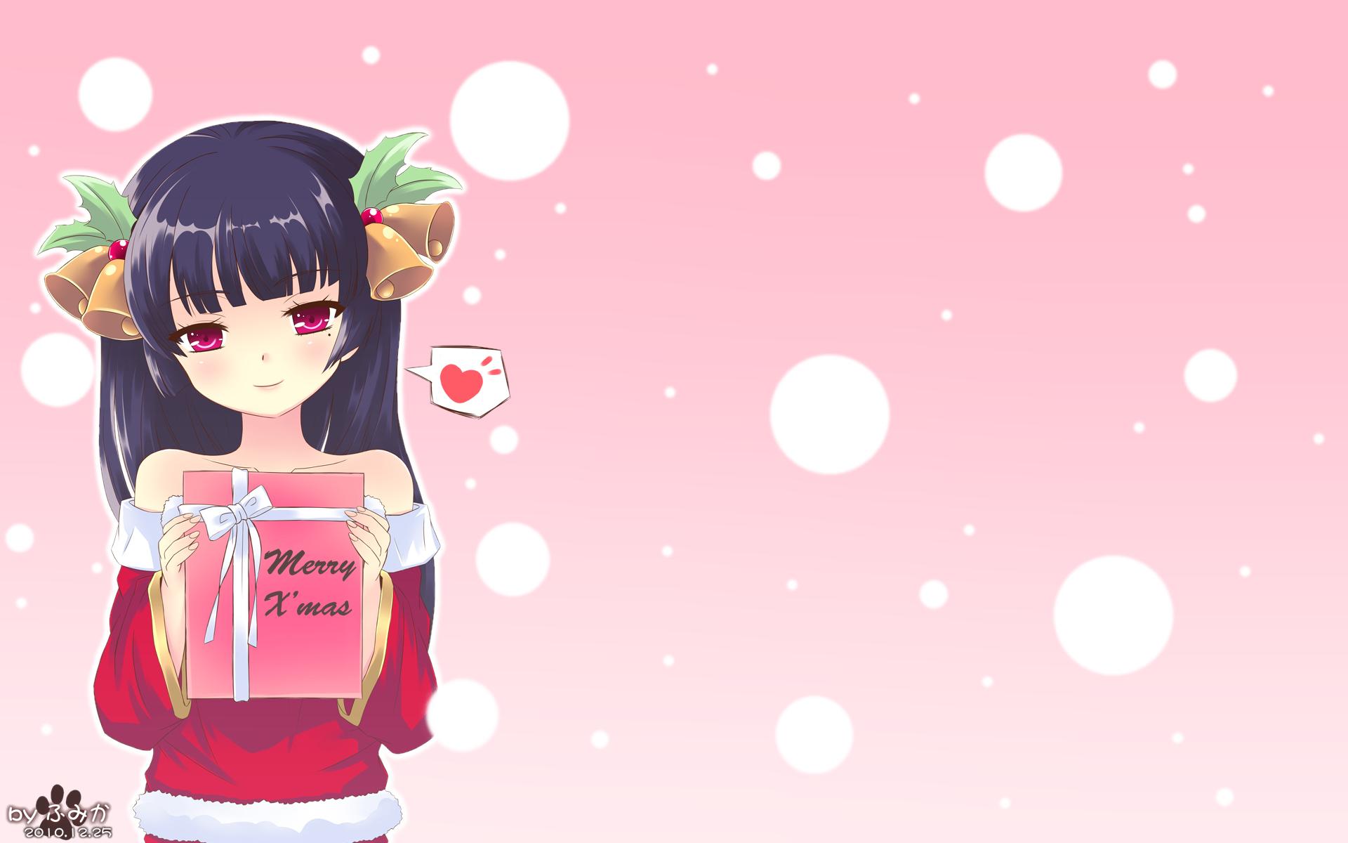 christmas fumika_(moeshin) gokou_ruri gradient ore_no_imouto_ga_konna_ni_kawaii_wake_ga_nai pink
