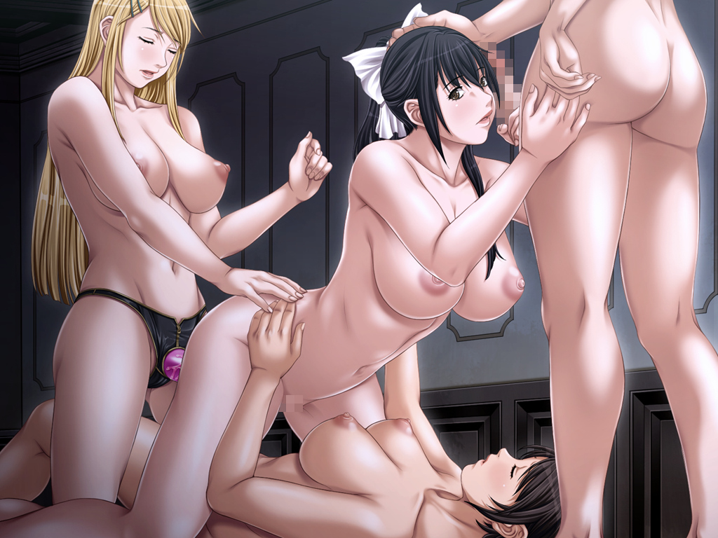breasts censored dildo futanari game_cg group lewdness_vita_sexualis nipples nude penis sei_shoujo sex vagina yuri